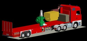 Trailer with booster pump